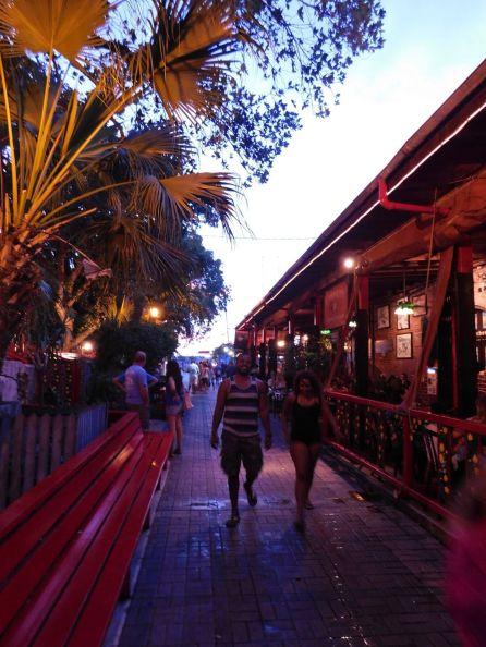 Coucher de soleil sur Mallory Square à Key West (avec vue sur Sunset Key).