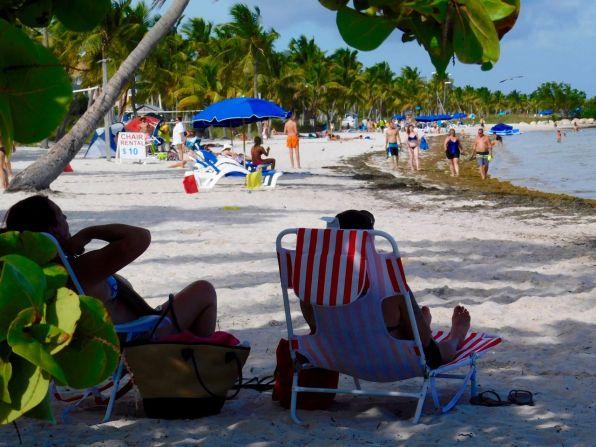 Plage de Smathers Beach à Key West.