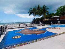 Monument aux esclaves africains sur la plage de Higgs Beach à Key West