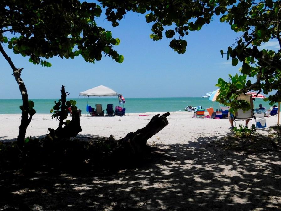 Plage de Blind Pass Beach sur l'île de Sanibel (Floride)
