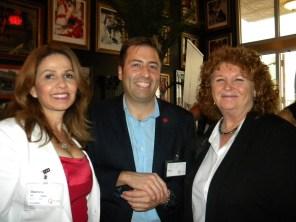 Stéphanie Hierschenson (agent immobilier) Vincent Gauthier-Doré (Air Canada) et Susan Harper (consule générale du Canada à Miami)