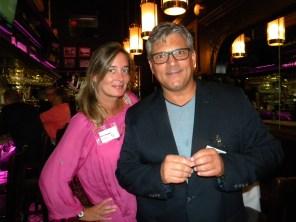 Marie Poupart (journaliste) et Martin Clavet (Richard's Motel) durant le Cocktail de rentrée de la Chambre de Commerce Québec-Floride à Fort Lauderdale