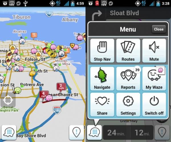 Application Waze : utile en cas d'ouragan