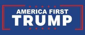 Bannière America First Trump