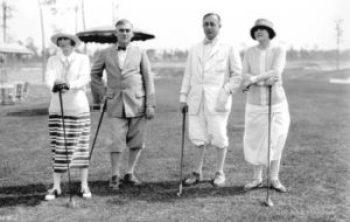 Golfeurs au Biltmore en 1925