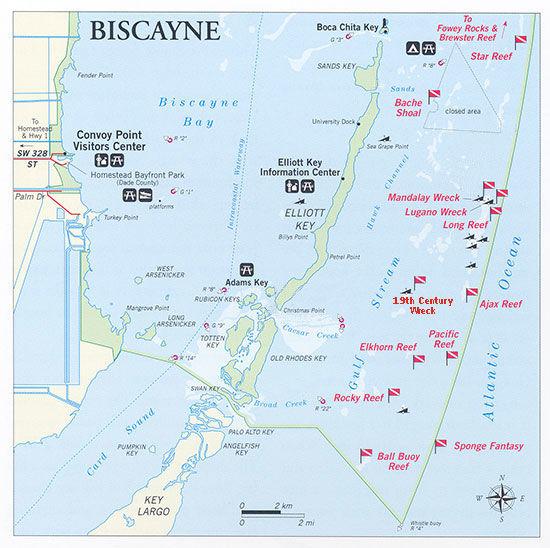 Carte du Biscayne National Park