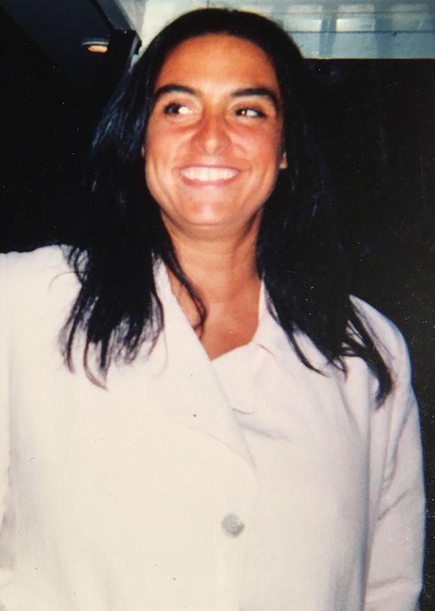 Milena Di Maulo sur le bateau de Blacky au Bahia Mar de Fort Lauderdale