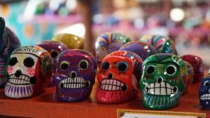Têtes de mort dans le Yucatan