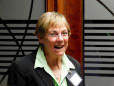 Virginia Rand-Hill (Gouvernement du Québec, bureau d'Atlanta) lors du cocktail de la mission commerciale Québec-Floride de Mars 2018