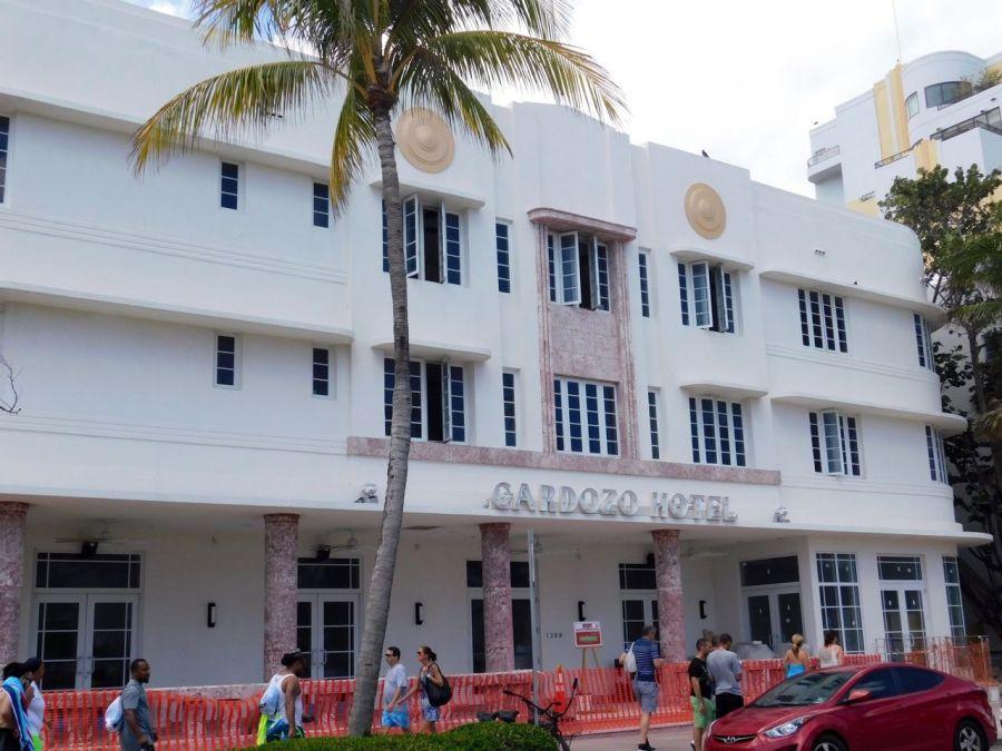 Cardozo Hotel, hôtel art déco sur Ocean Drive à South Beach / Miami Beach