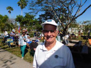 Sylvain Frétigny, président du Club Richelieu du Sud Floride, durant la Journée du Québec 2018 à Pembroke Park en Floride