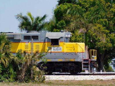 Train de canne à sucre de la US Sugar, près du lac Okeechobee (Floride)