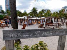 Le célèbre club Nikki Beach sur la plage de South Pointe à South Beach / Miami Beach