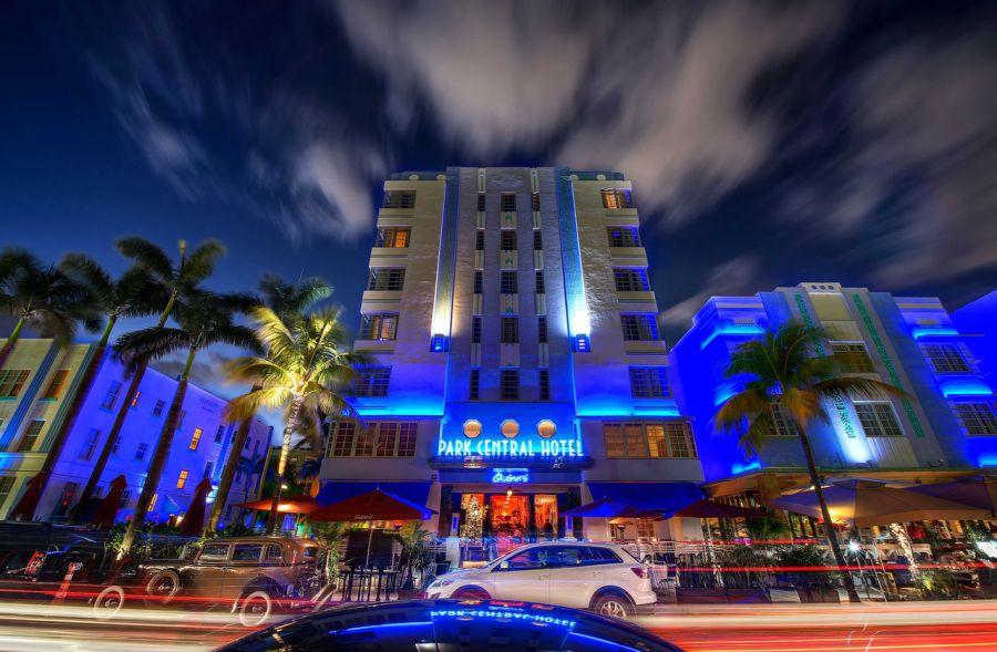 Park Central Hotel, hôtel art déco sur Ocean Drive à South Beach / Miami Beach