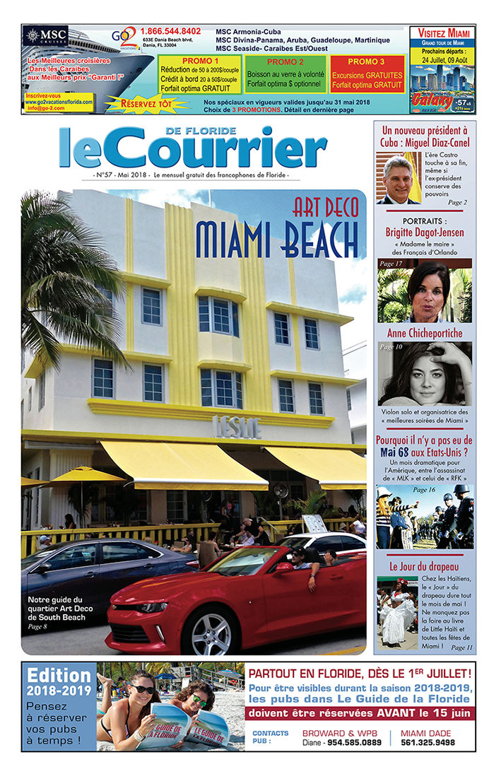 couverture du Courrier de Floride de mai 2018
