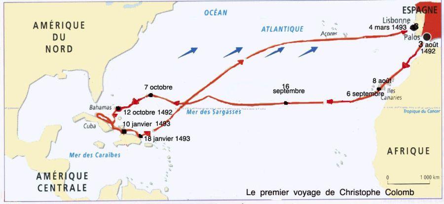 Bahamas - Premier voyage de Christophe Colomb