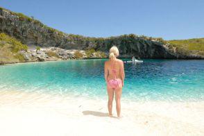 Bahamas Long Island - Deans-Blue-Hole - Clarence Town