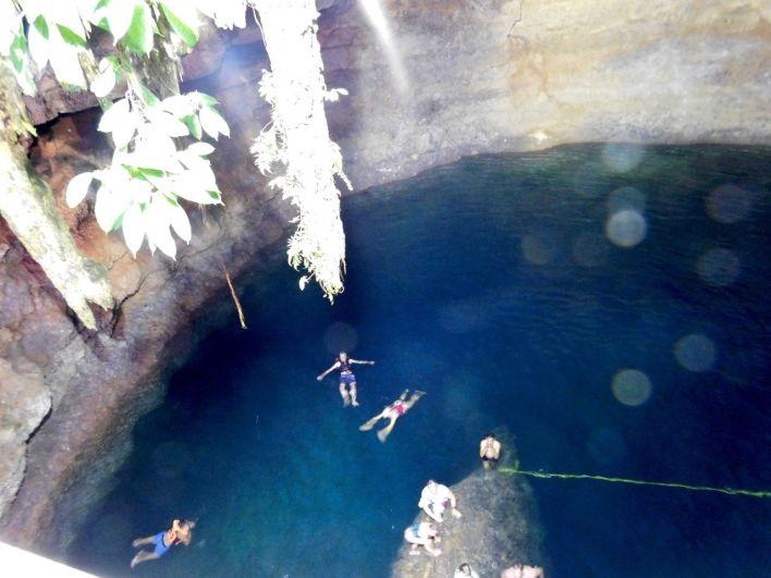 Cenote Tankach-Ha (près de Coba au Mexique)