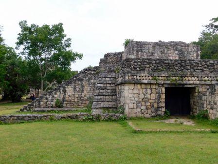 La grande pyramide d'Ek Balam, au nord de Valladolid, dans le Yukatan.