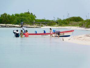 Plage sur le lagon de Rio Lagartos.