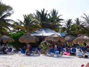 Plage de Xpu-Ha, près de Playa del Carmen sur la Riviera Maya du Mexique