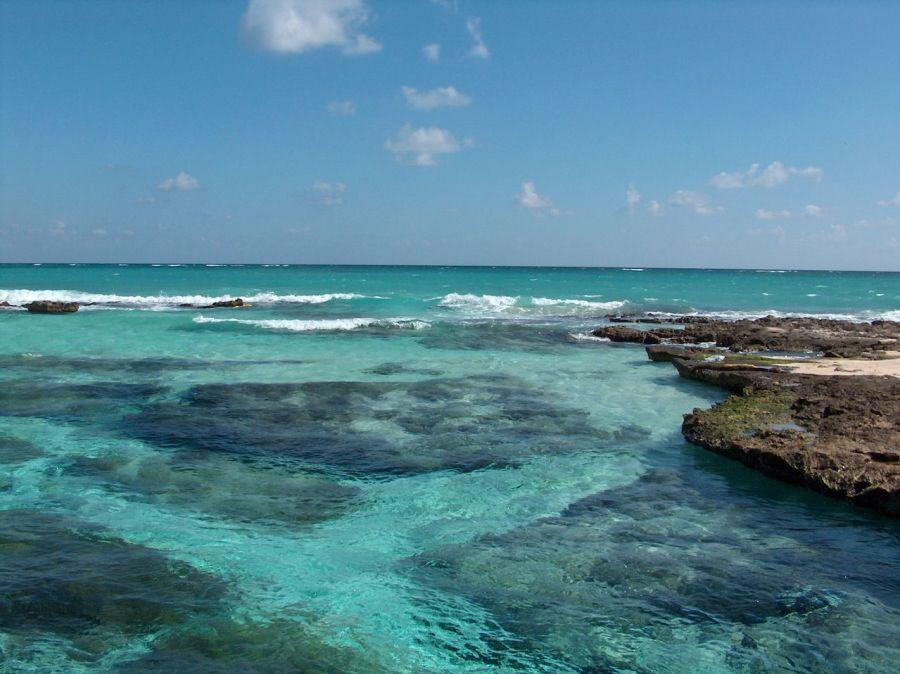 Playa Caleta Tankah, à Tulum au Mexique.