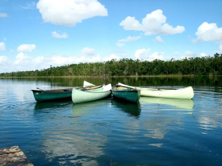 La lagune à Punta Laguna