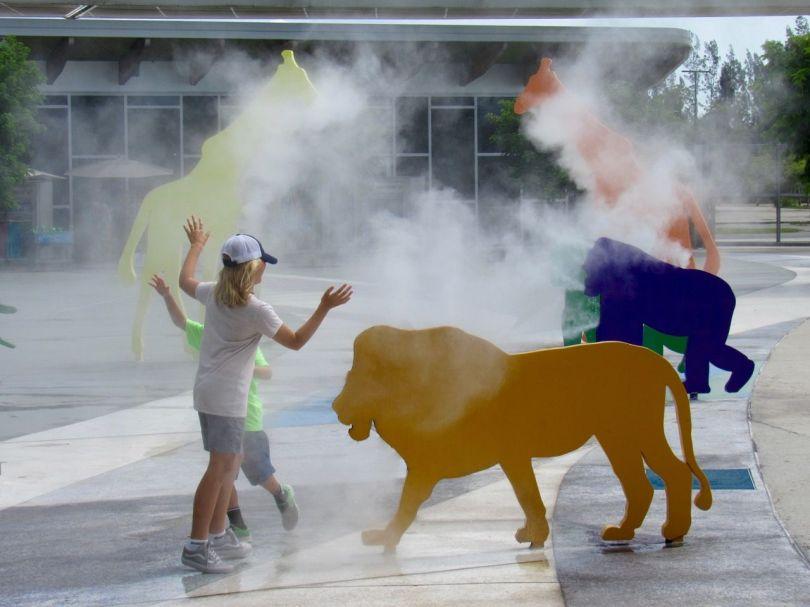 Fontaine au Zoo de Miami