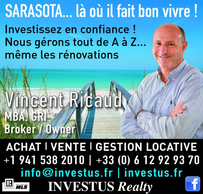 Vincent Ricaud Investus Realty Bradenton Sarasota Immobilier