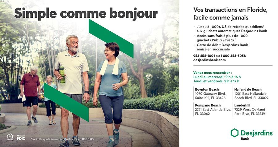 Desjardins Bank : banque québécoise en Floride