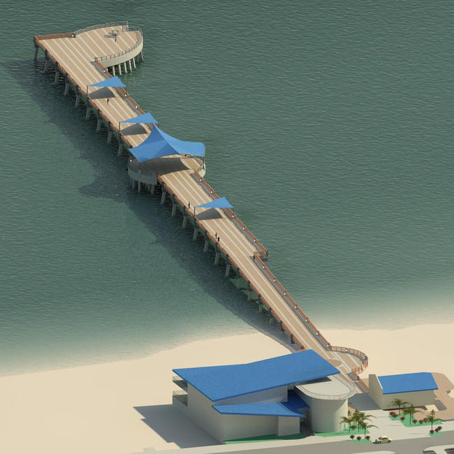 Nouveau pier et the fishing village à Pompano Beach.