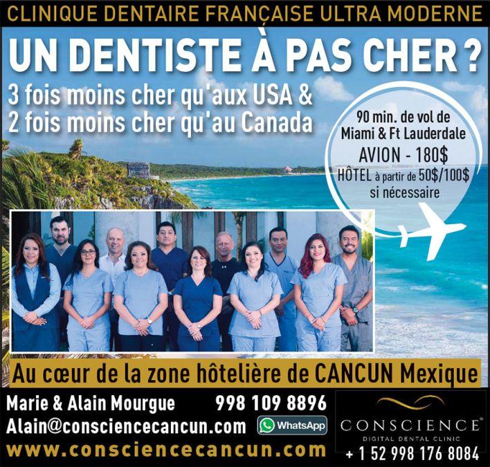 Conscience Cancun Dentiste moderne français Mexique