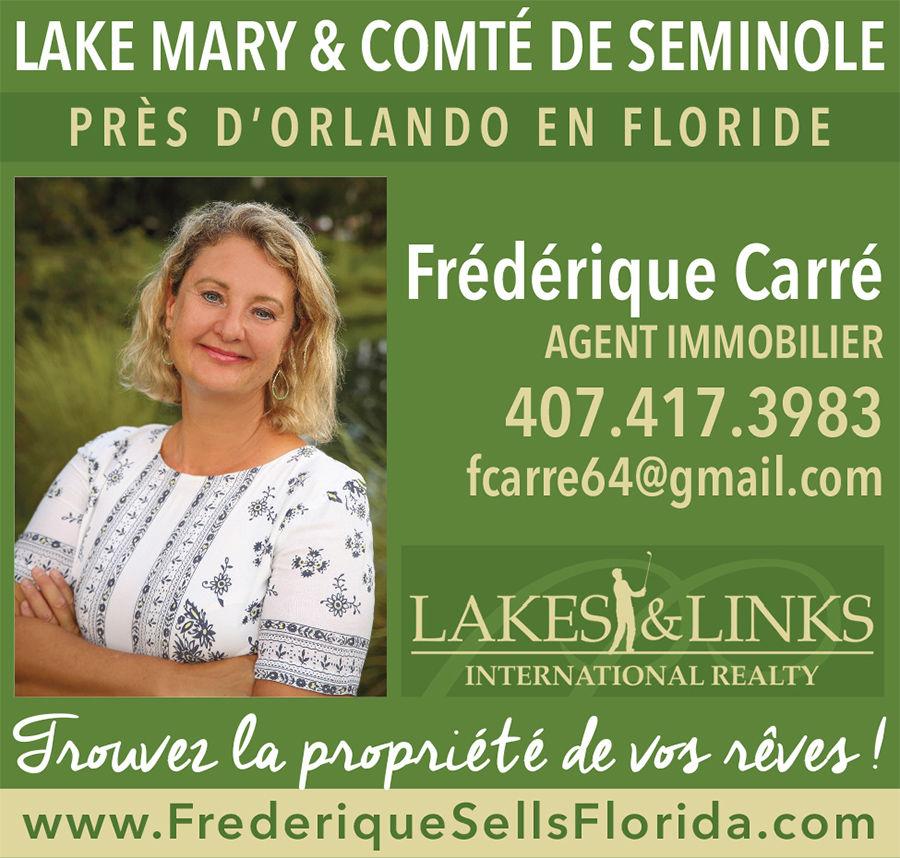 Frédérique Carré, agent immobilier près d'Orlando