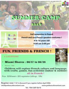 Camp d'été de l'APEM à Miami