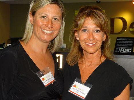 Marie-Andrée Villeneuve et Manon Boissonneault durant la 14e mission commerciale de la Chambre Canada-Floride