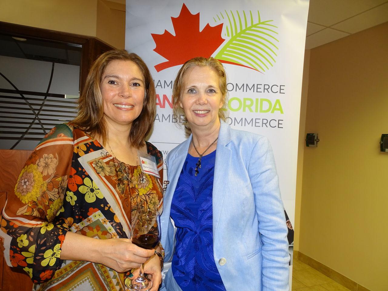 Marie-Claude Péthel et Sophie Proulx durant la 14e mission commerciale de la Chambre Canada-Floride