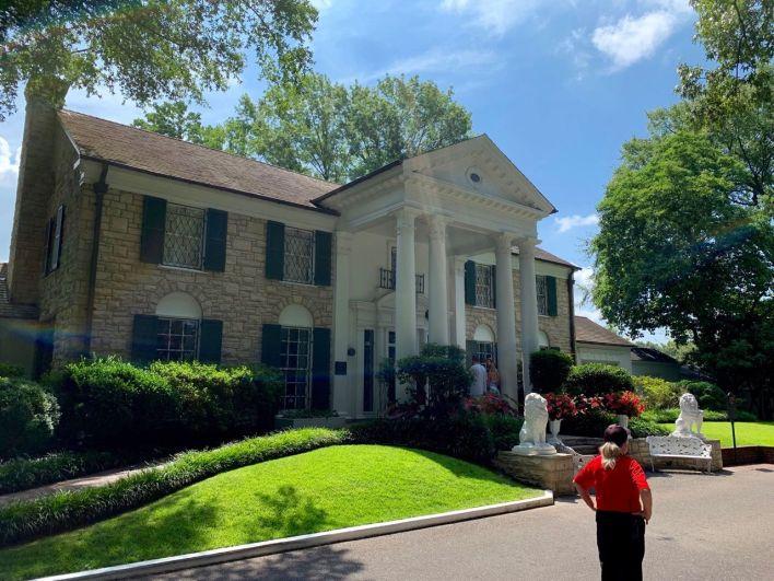 Graceland : la maison d'Elvis Presley à Memphis.