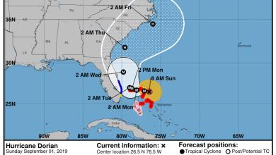 Photo of L'ouragan Dorian en catégorie 5 : les comtés de Broward et Palm Beach sont (entre autres) en alerte