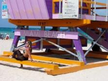 La plage de Miami Beach au niveau de Lincoln Road