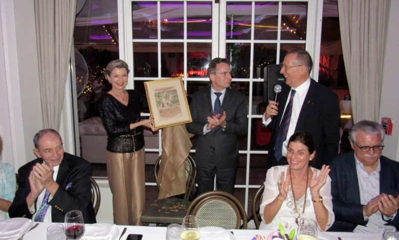 Dîner d'adieu au consul de France Clément Leclerc organisé à Miami par l'UFE Floride