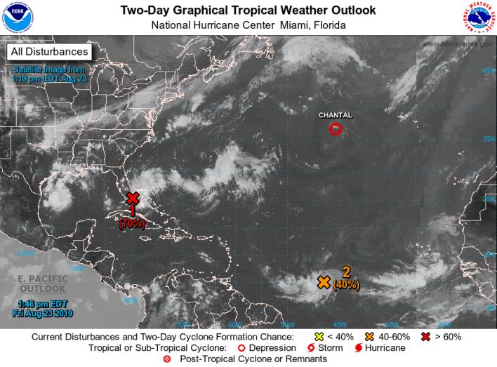 dépression tropicale Carte NHC