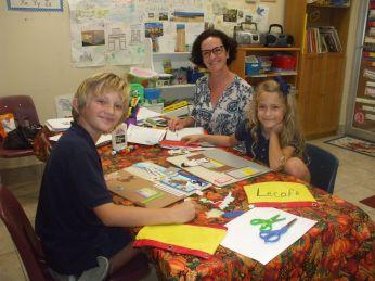 Cours de langue pour enfants à l'AFGO (Crédit photo : AFGO)