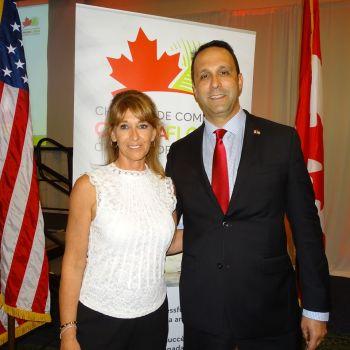 Manon Boissonnault et Glenn Cooper : les deux co-présidents, lors de leur gala des 10 ans de la Chambre de commerce Canada-Floride
