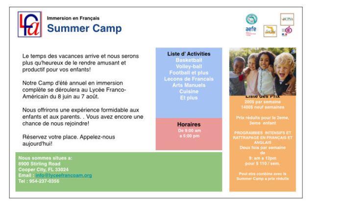 camp d'été du LFA de Cooper City en Floride, 2020