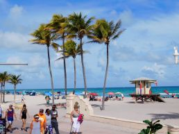 Plage de Hollywood Beach, en Floride