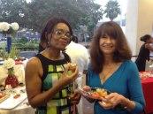 Karine Soulanges (ISB de Hollywood) et Martine Johnston (consulat de France)