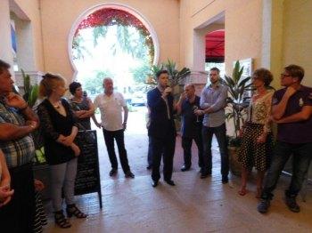 Benoit Duverneuil (Centre de la Francophonie de la Floride et des Caraïbes) Network Courrier de Floride au restaurant Casimir de Boca Raton