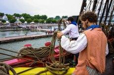 L'Hermione arrive à Yorktown. © Loïc Bailliard / Association Hermione Lafayette