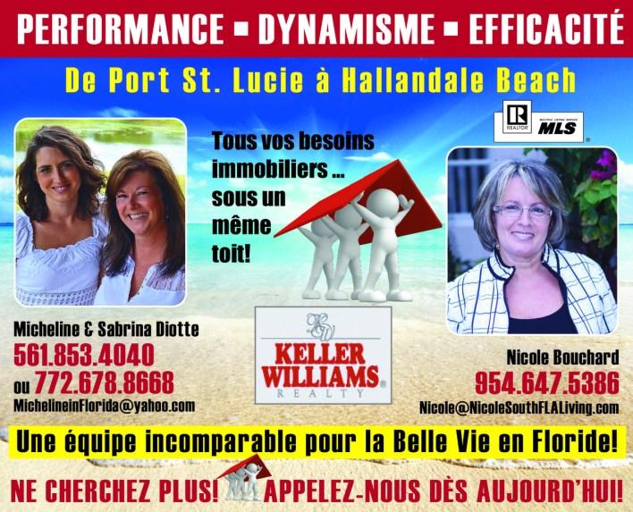 Micheline & Sabrina Diotte, et Nicole Bouchard,