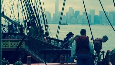 Arrivée de l'Hermione à Manhattan